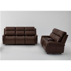 Power Headrest Sofa and Power Headrest Loveseat Set