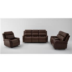 Power Headrest Sofa, Power Headrest Loveseat with Console and Power Recliner Set