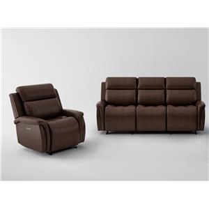 Power Headrest Sofa and Power Recliner Set