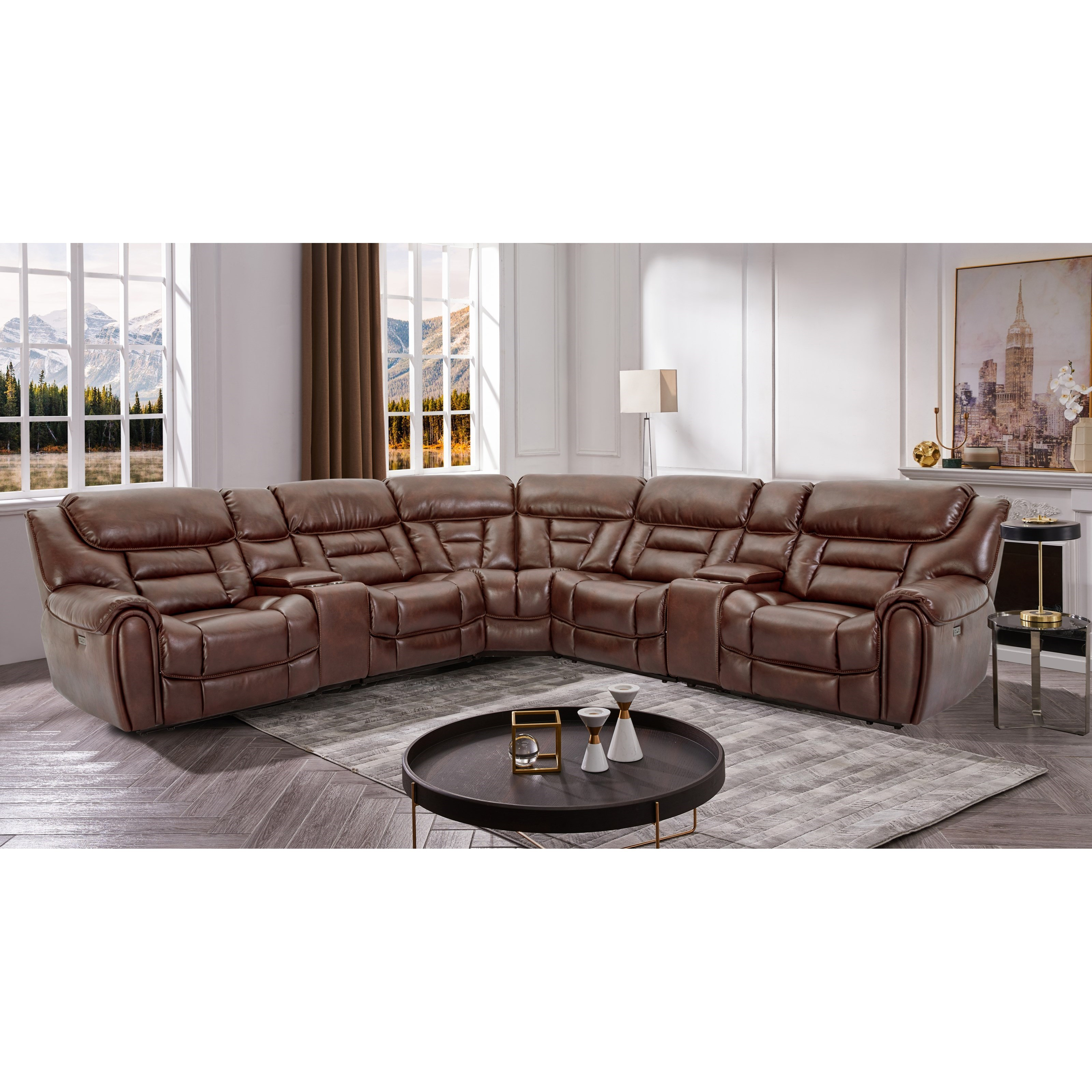 70039 7-Piece Power Reclining Sectional by Cheers at Lagniappe Home Store