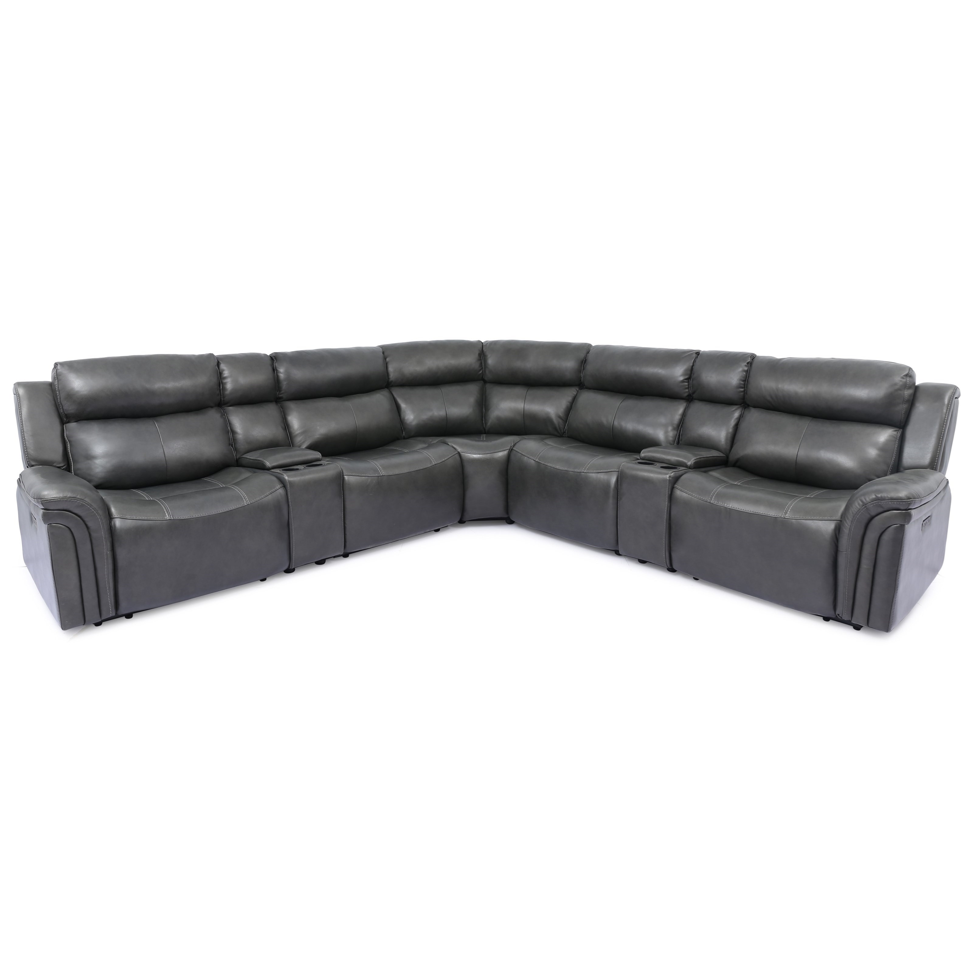 70046 Power Headrest Reclining Sectional by Cheers at Lagniappe Home Store