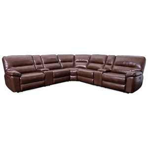 Power Headrests Reclining Sectional with 2 Consoles
