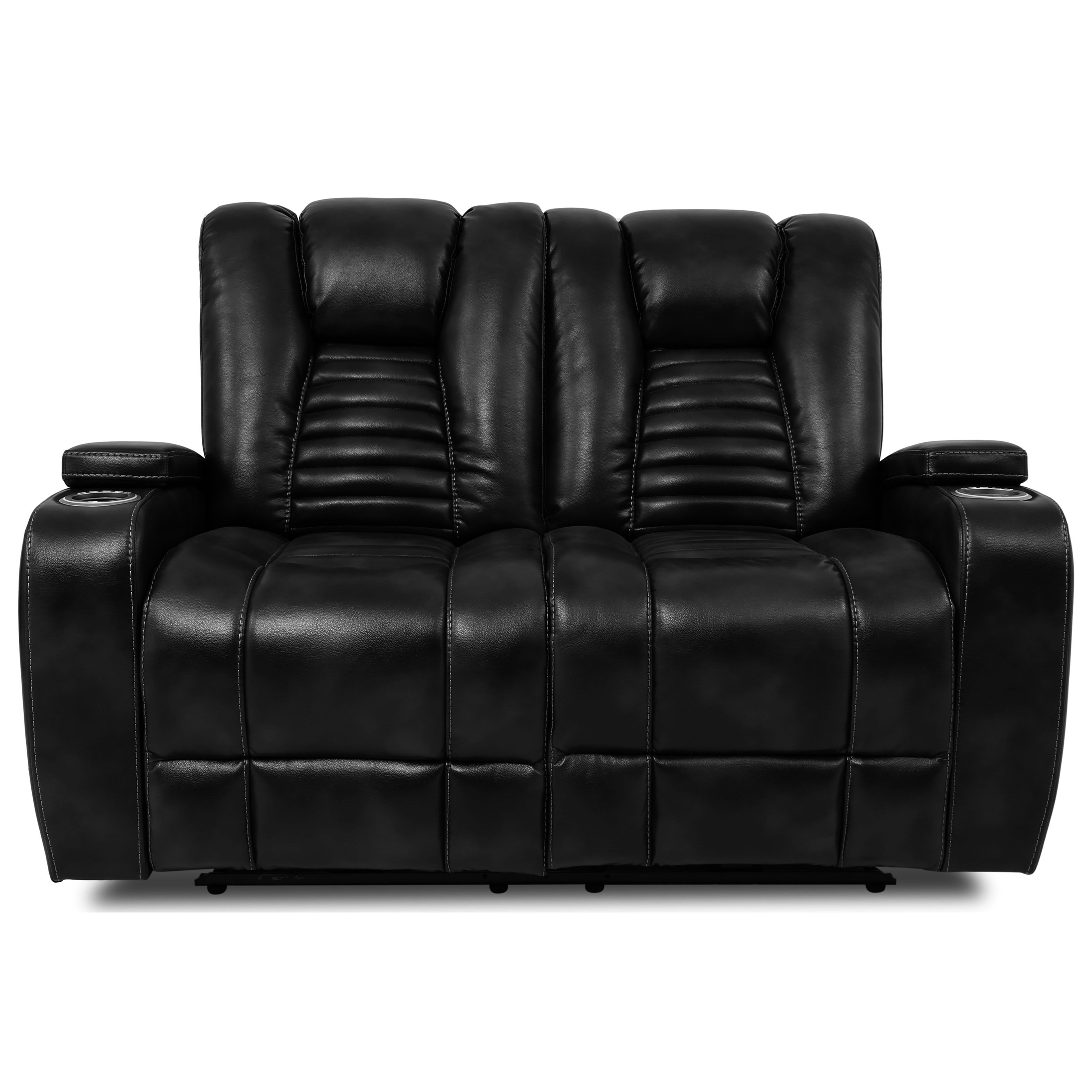 70051 Dual Power Reclining Loveseat by Cheers at Household Furniture