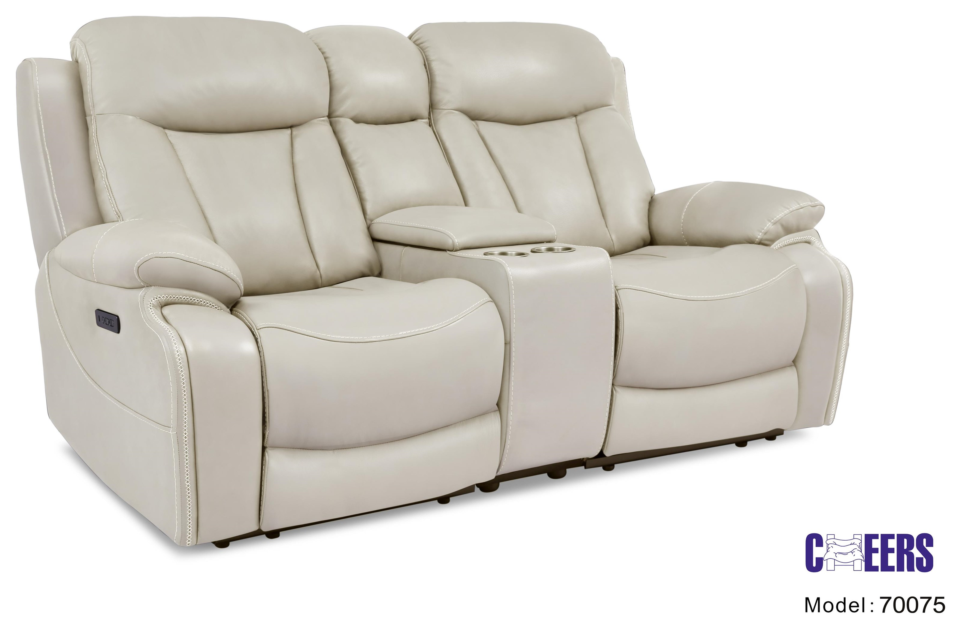 70075 Power Reclining Console Loveseat  with Powe by Cheers at Furniture Fair - North Carolina