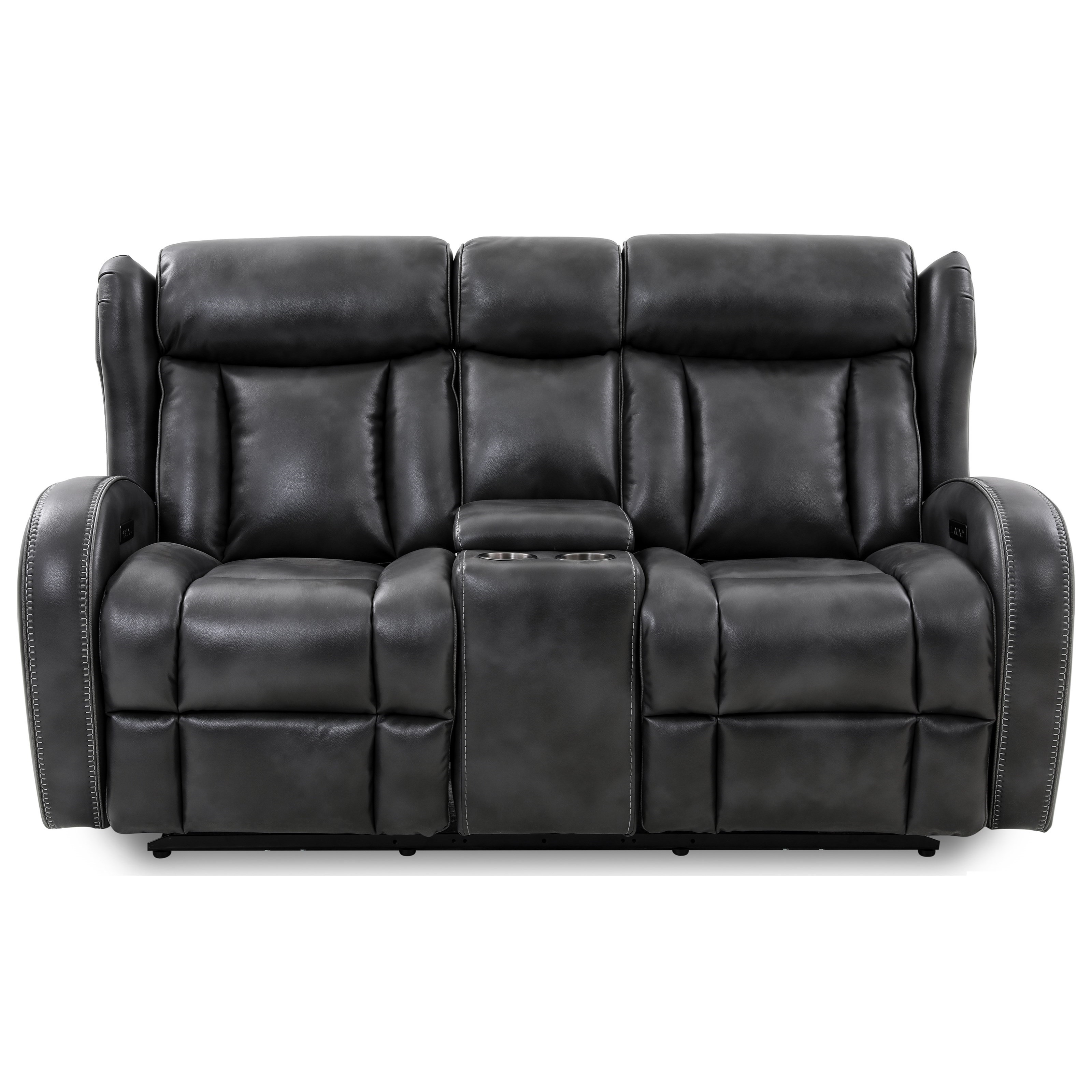 70083 Power Reclining Console Loveseat by Cheers at Household Furniture