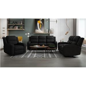 Power Headrest Sofa, Power Headrest Loveseat with Console and Recliner Set