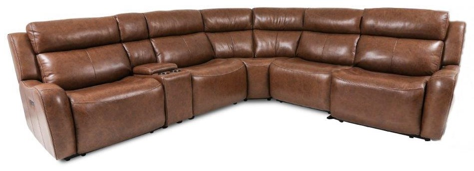 70093 6-Piece Power Reclining Sectional Sofa by Cheers at Beck's Furniture