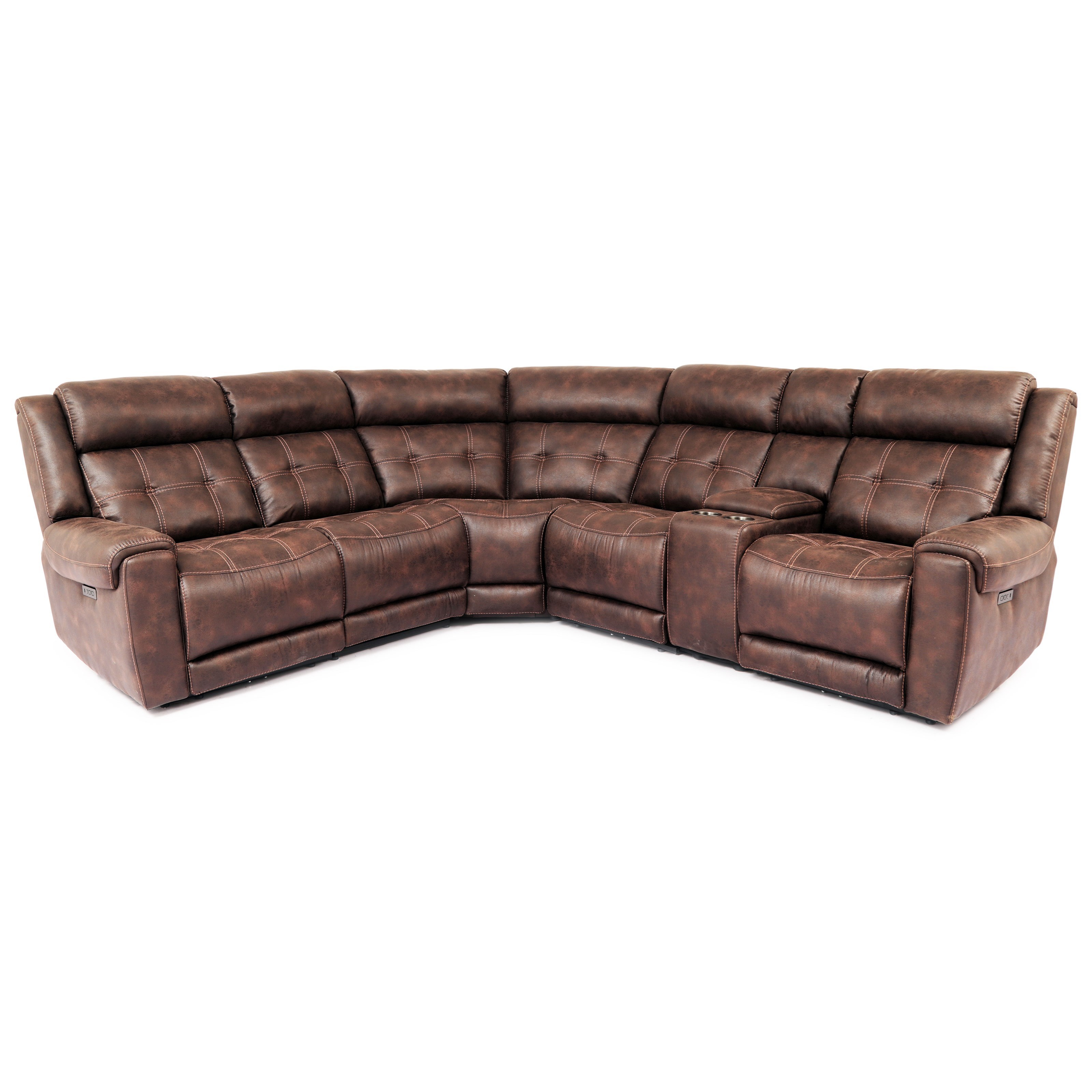 70115 7-Piece Power Reclining Sectional by Cheers at Lagniappe Home Store