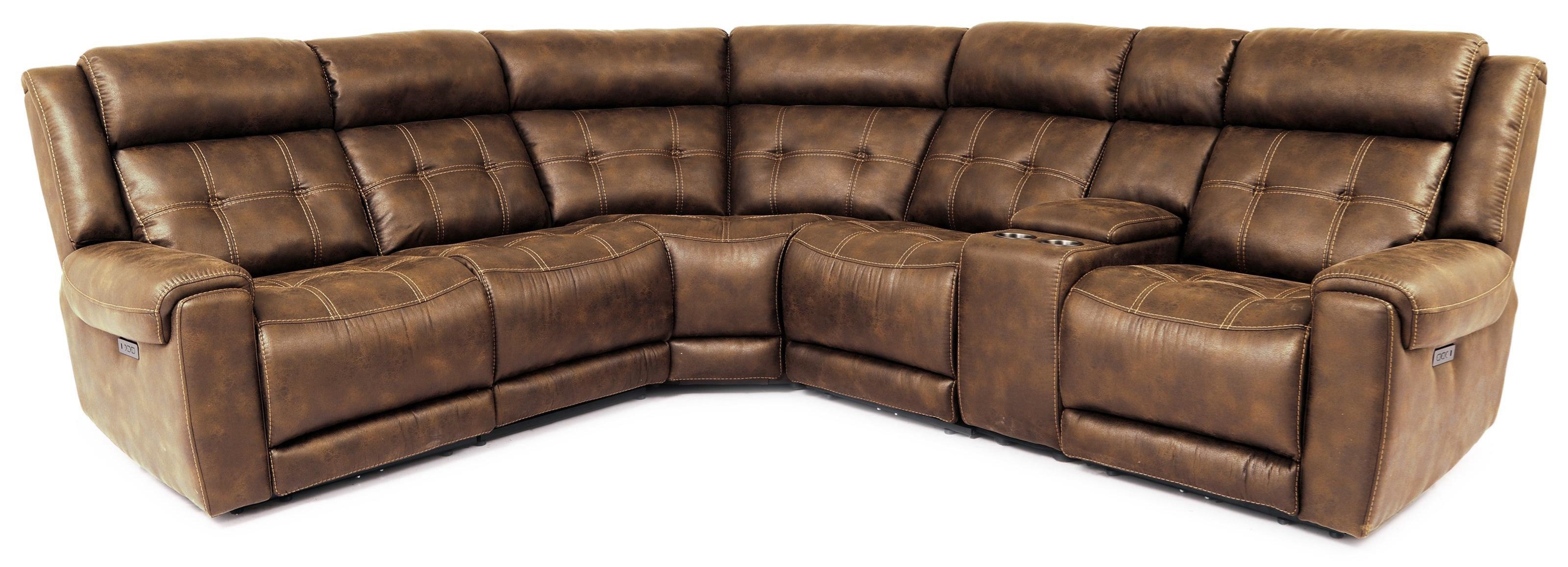 70115 6-Piece Power Reclining Sectional by Cheers at Sam Levitz Outlet