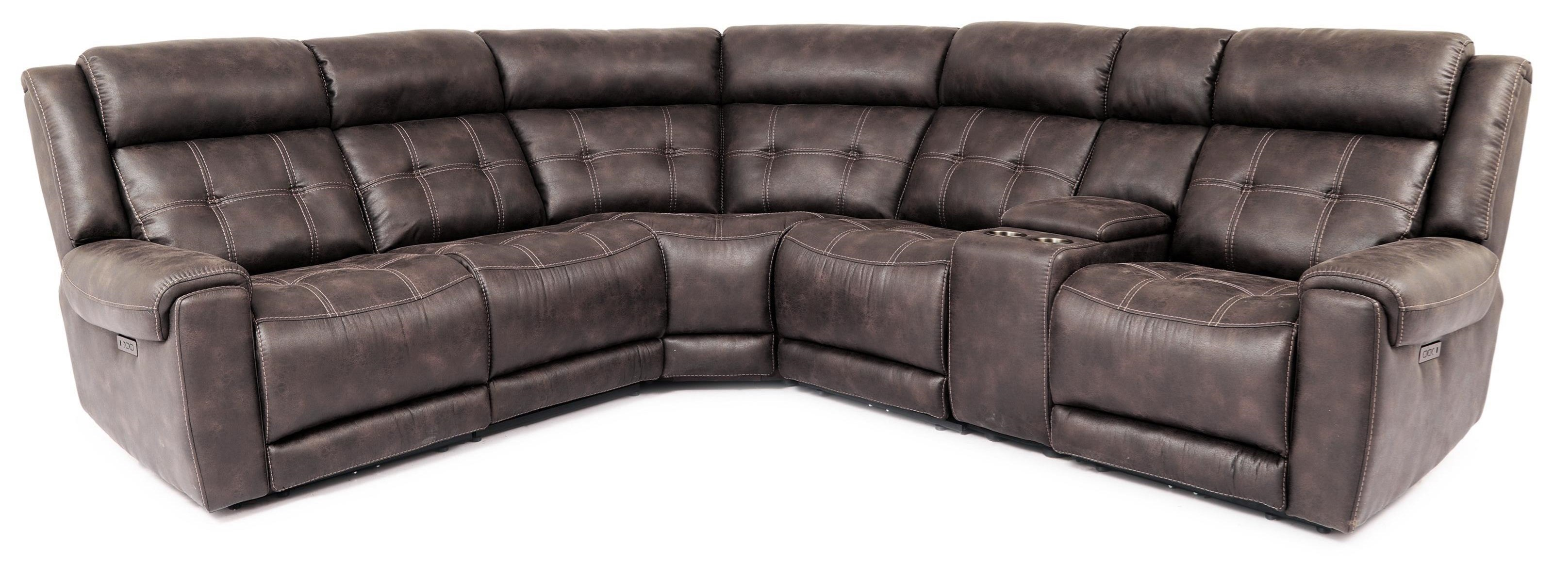 70115 6-Piece Power Reclining Sectional by Cheers at Sam Levitz Furniture