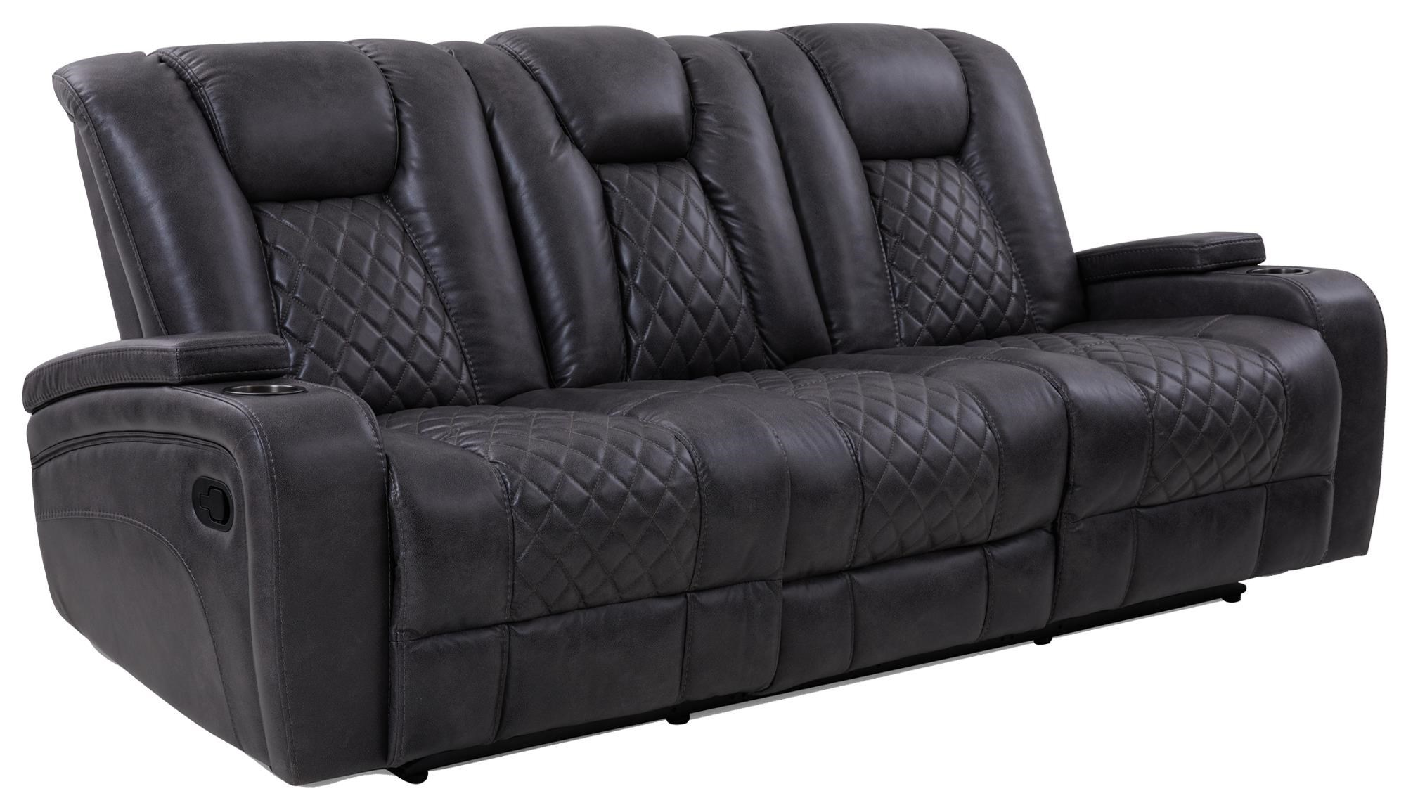 Reclining Sofa w/ Dropdown Table