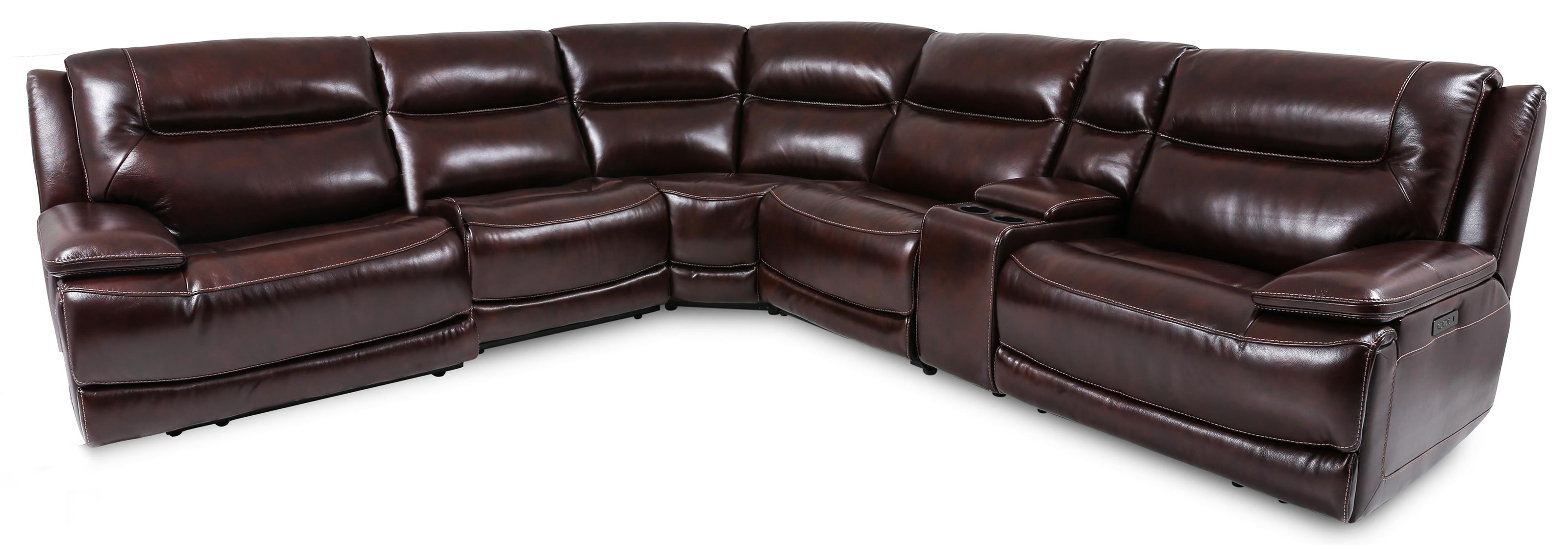 70128 6-Piece Power Reclining Sectional Sofa by Cheers at Beck's Furniture