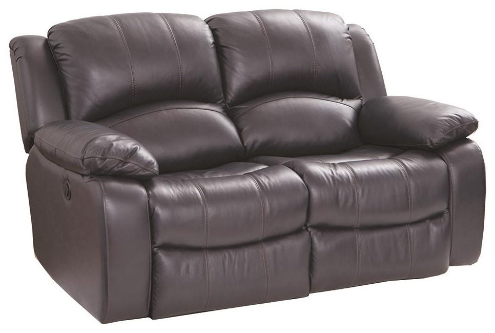 8251 Leather Match Grey Power Loveseat by Cheers at Darvin Furniture