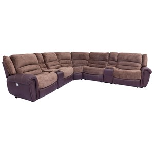 Power Reclining Sectional with Power Headrests