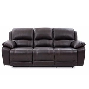 Casual Power Reclining Sofa with Pillow Arms