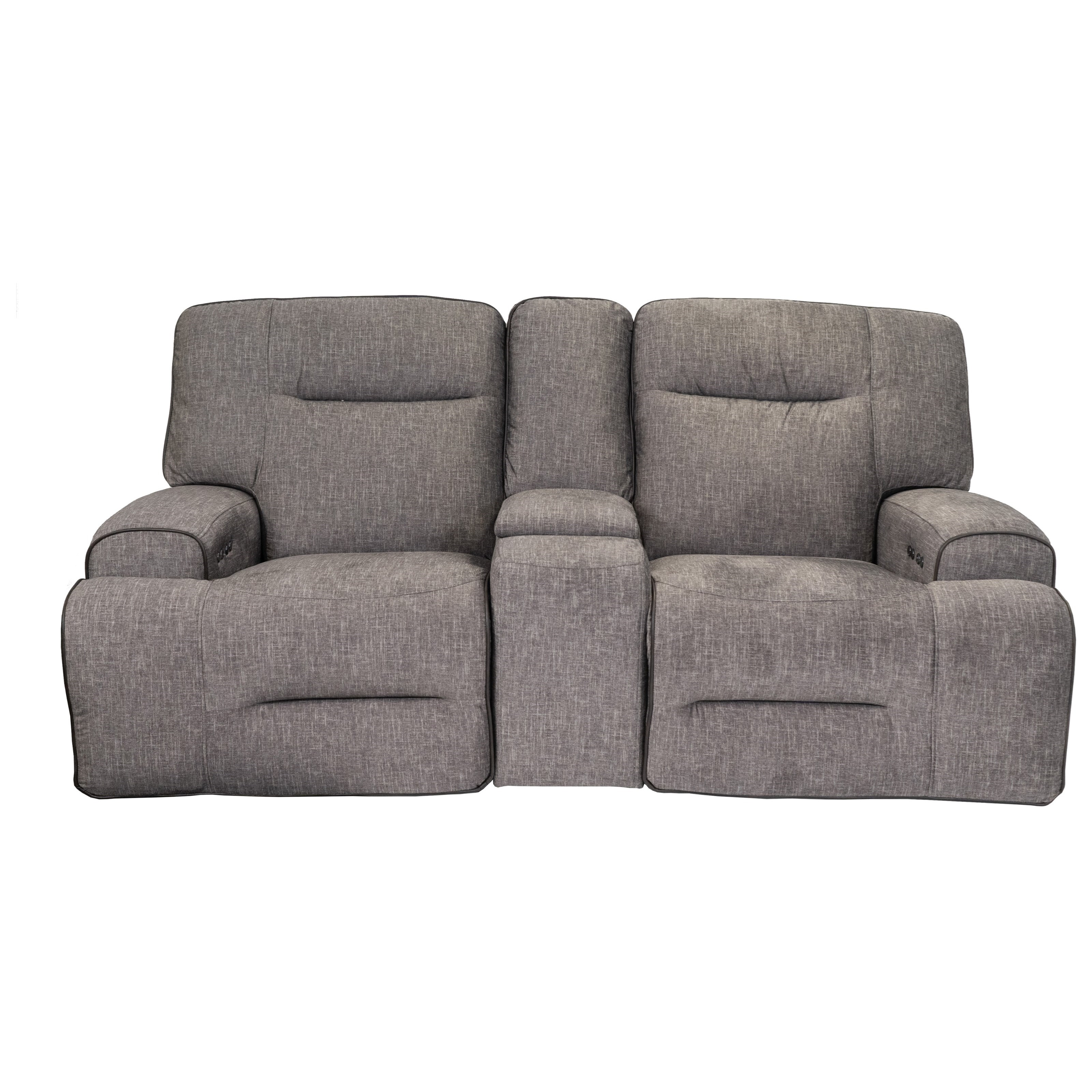 90016 Dual Power Reclining Console Loveseat by Cheers at Household Furniture