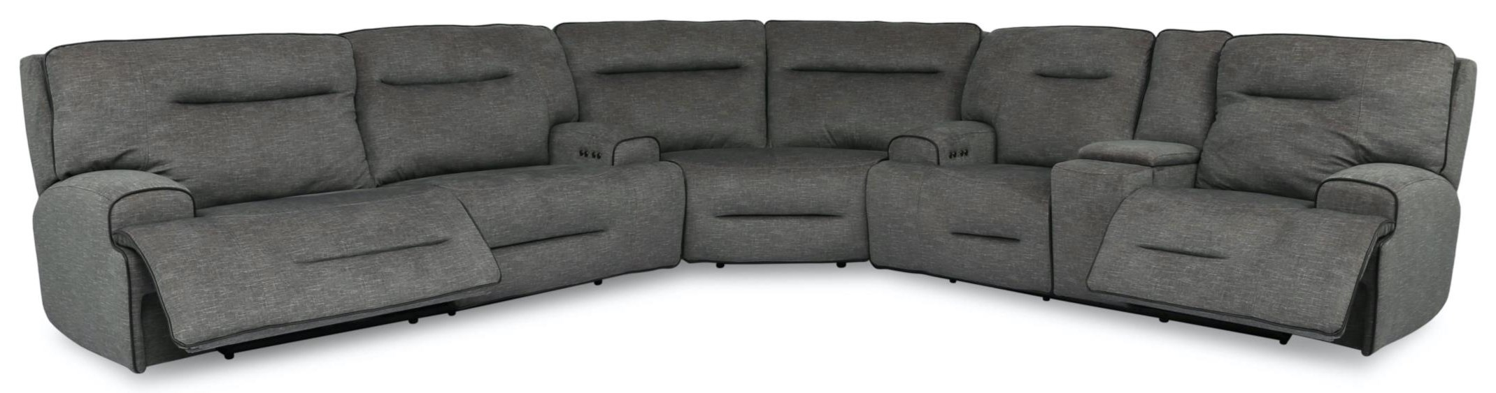 90016 Power Reclining Sofa Sectional with Power He by Cheers at Beck's Furniture