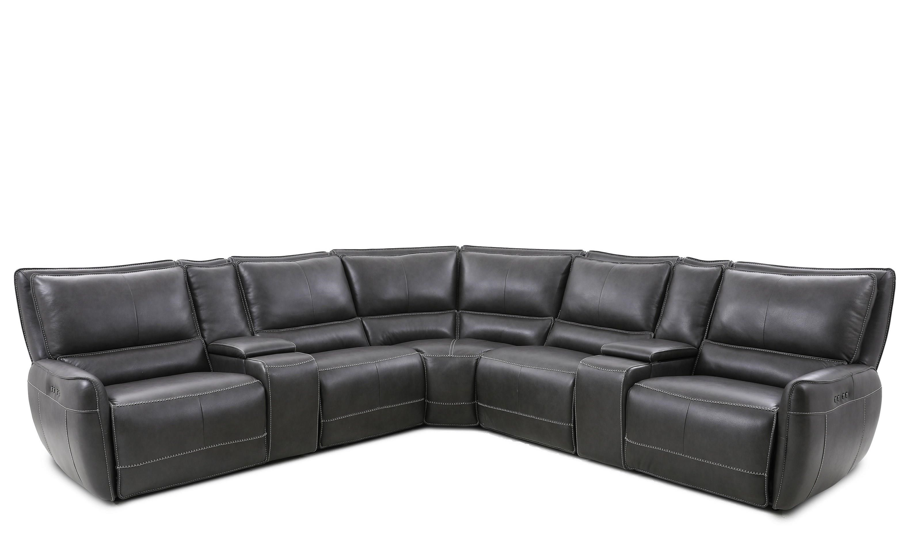90080 7-Piece Power Reclining Sectional by Cheers at Household Furniture