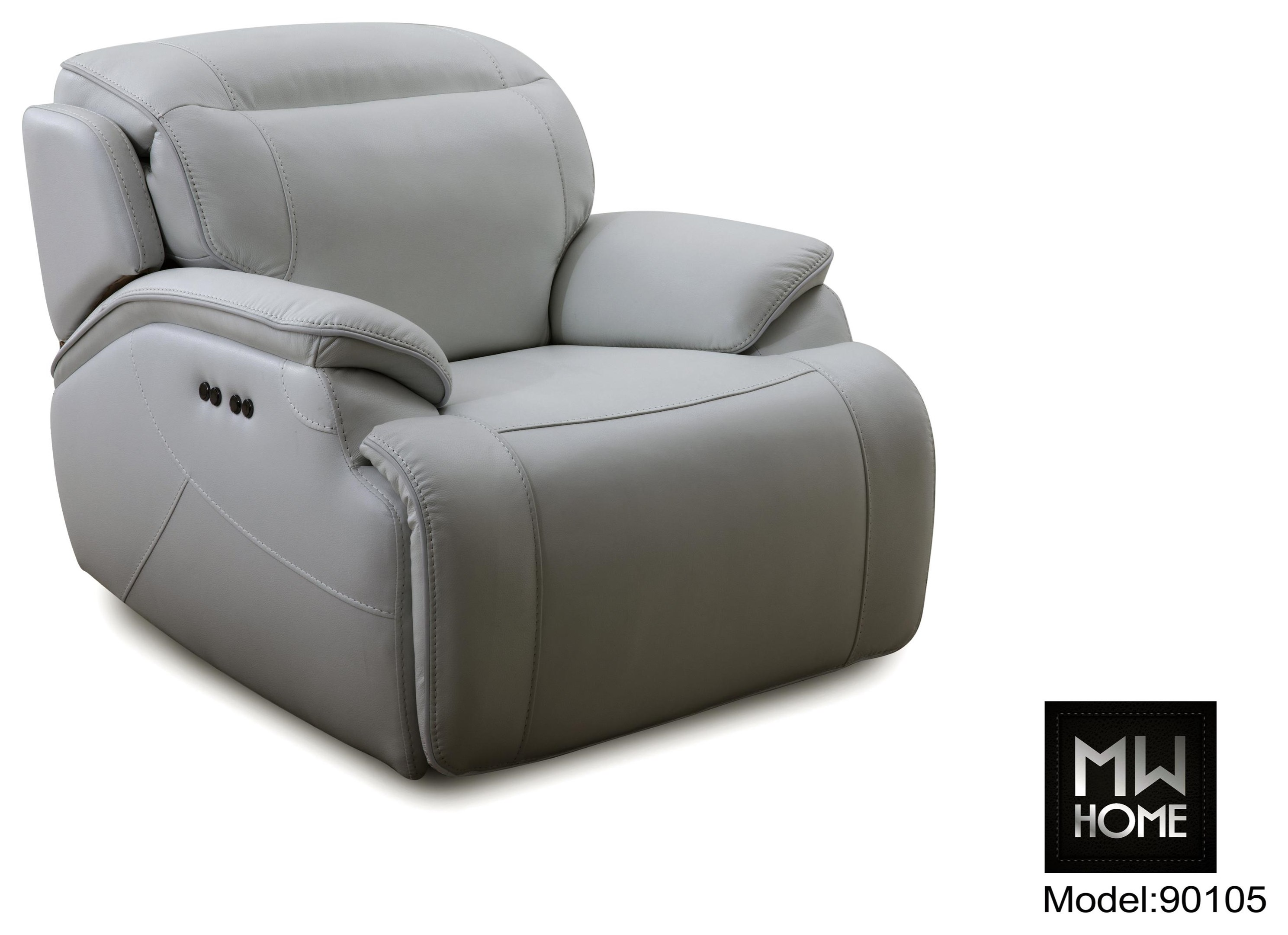 9010 Leather Match Power Recliner by Cheers at Darvin Furniture