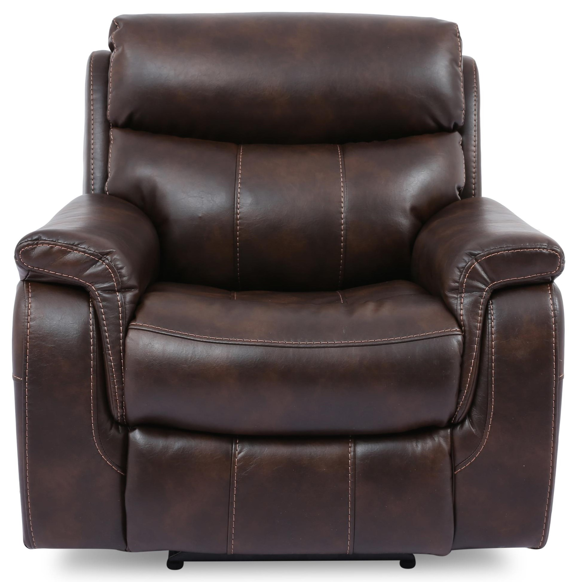 9020 Recliners Leather Match Power Headrest Recliner by Cheers at Sam Levitz Furniture