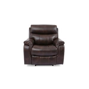 Leather Match Power Recliner with Power Headrest