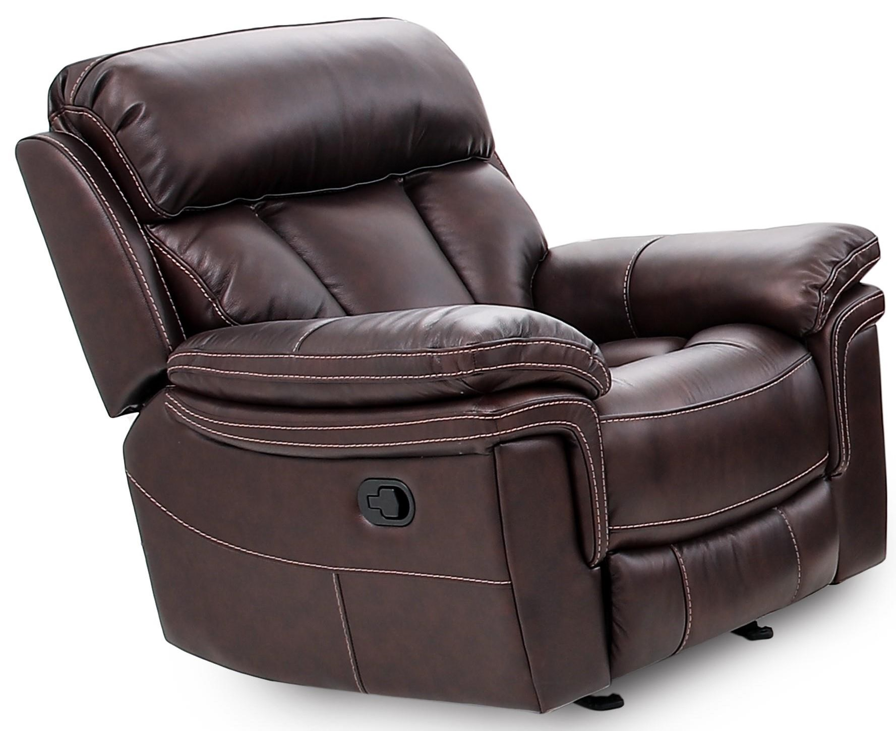 9597 Leather Match Power Recliner by Cheers at Sam Levitz Furniture