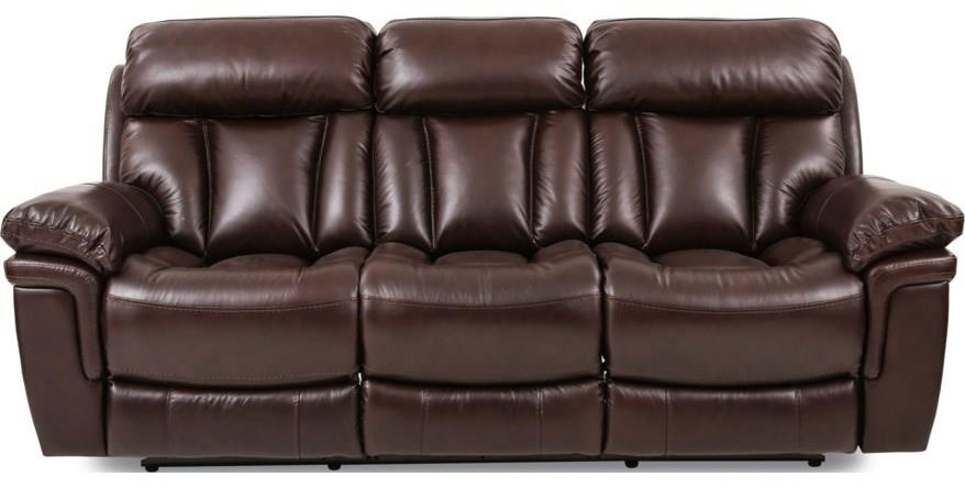 Bryant LEATHER RECLINING SOFA at Walker's Furniture