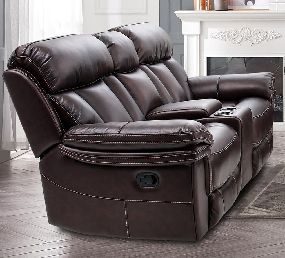 9597 Power Reclining Console Loveseat by MW Classics at Miller Waldrop Furniture and Decor