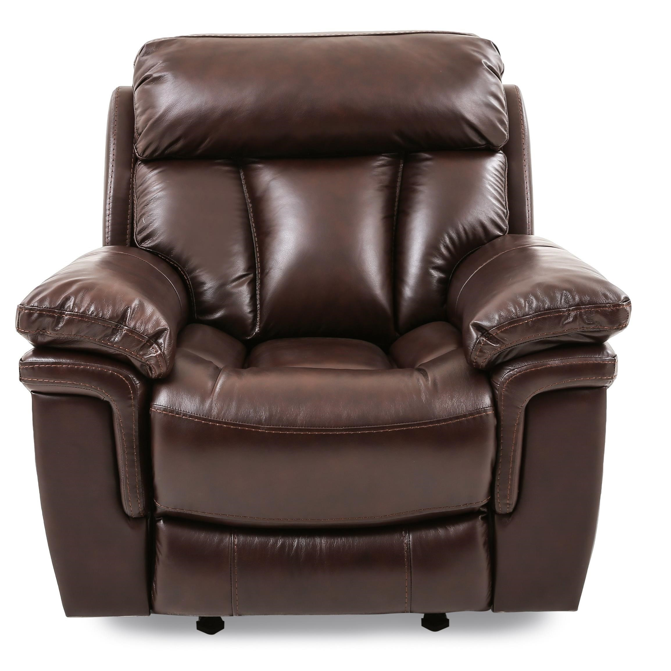 Bryant POWER HD/FT LEATHER RECLINER at Walker's Furniture