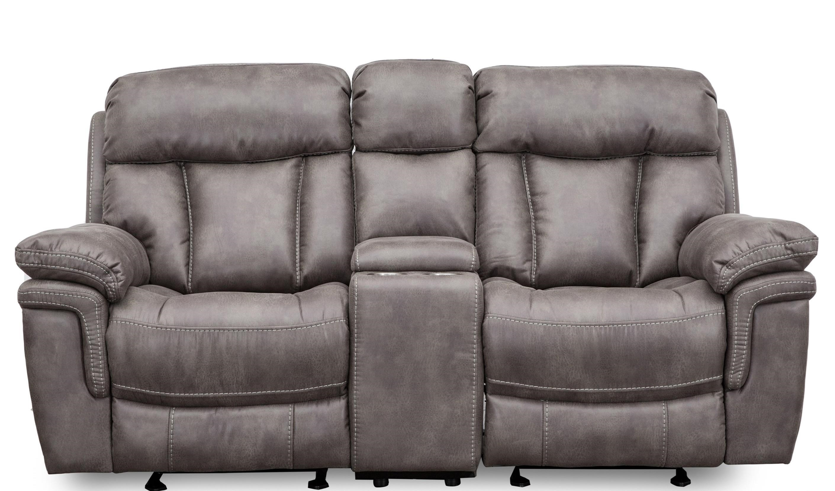 9597 Wallhugger Glider Console Reclining Loveseat by Cheers at Household Furniture