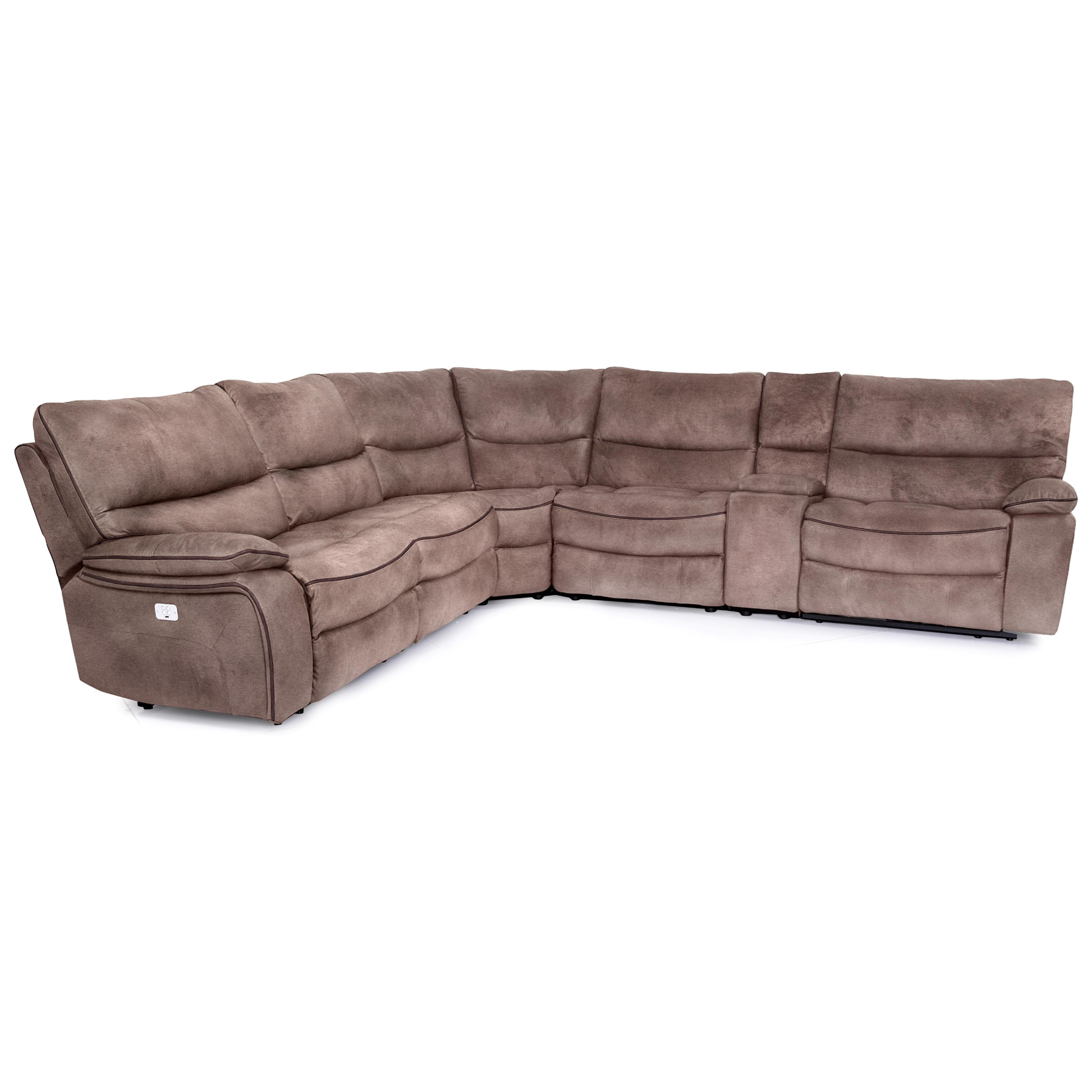 9706 6 Piece Power Reclining Sectional at Pilgrim Furniture City