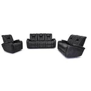 Reclining Sofa with Drop Down Table, Reclining Glider Loveseat and Glider Recliner Set