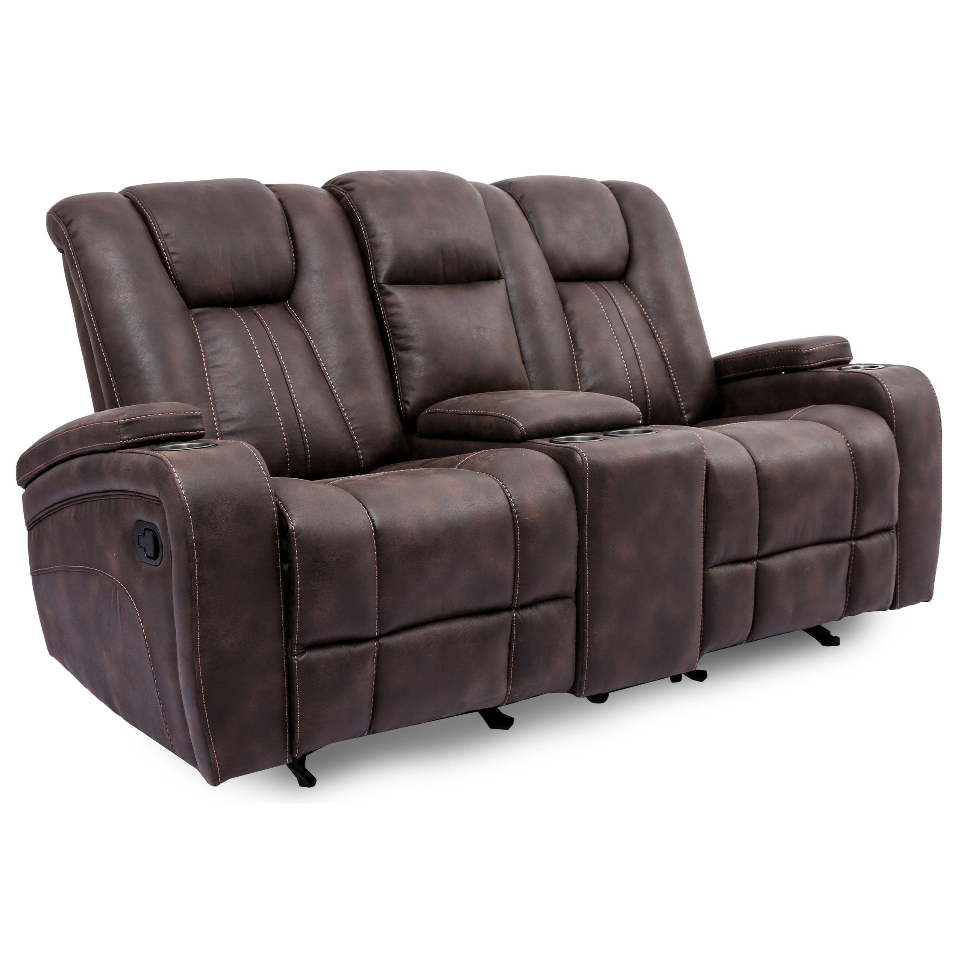 9990M Reclining Loveseat with Console by MW Classics at Miller Waldrop Furniture and Decor