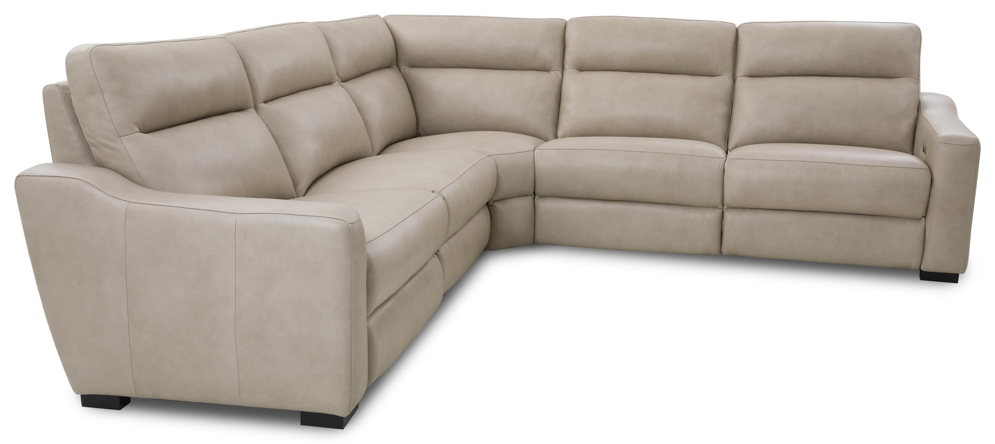 Cheers 90055 Leather 5-Piece Sectional by MW Home at Baer's Furniture