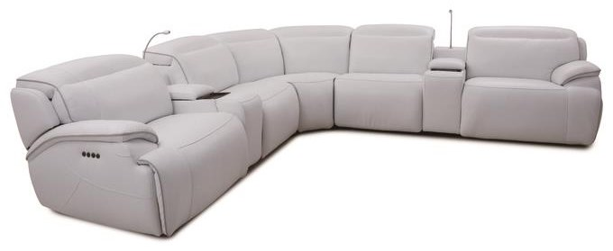 Cosmo Cosmo 7-Piece Sectional by MW Home at Baer's Furniture