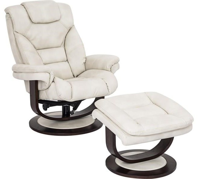 K827 Liam Reclining Chair and Ottoman at Walker's Furniture