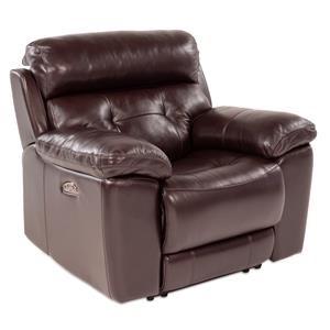 Leather Power Recliner w/ Power Headrest