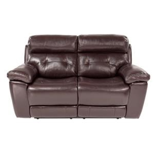 Power Reclining Leather Loveseat w/ Power Headrest
