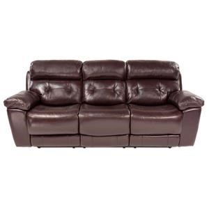 Power Reclining Leather Sofa w/ Power Headrest