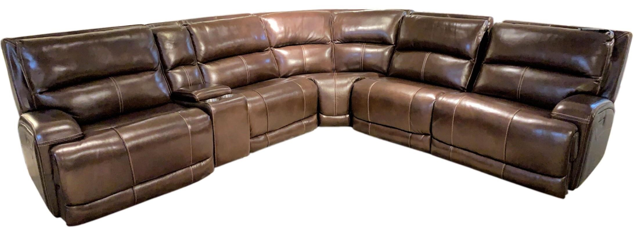 Leather In Motion Reclining Sectional by Leather In Motion at Sprintz Furniture