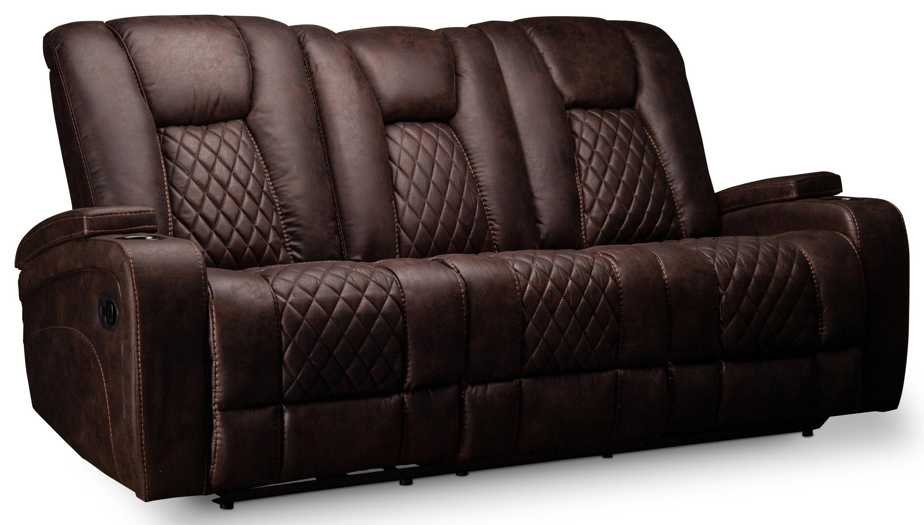 Tallis Tallis Reclining Sofa with Drop Down Table at Morris Home