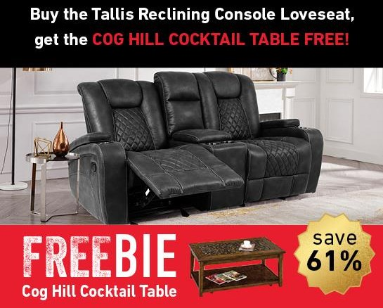 Tallis Tallis Reclining Loveseat with Freebie! at Morris Home