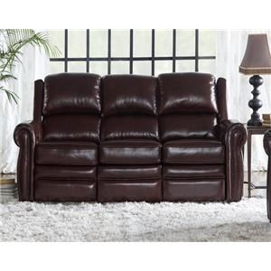 Burgundy Dual Power Reclining Leather Match Sofa