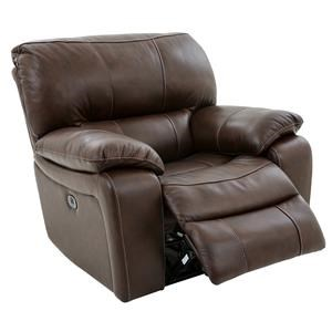 Casual Glider Recliner with Pillow Arms