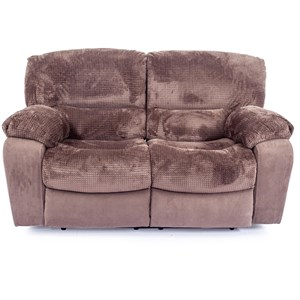 Dual Reclining Love Seat with Pillow Arms