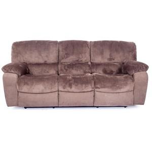 Reclining Sofa With Plush Pillow Arms