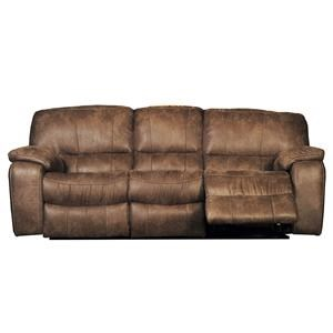 Reclining Sofa With Plush Pillow Arms