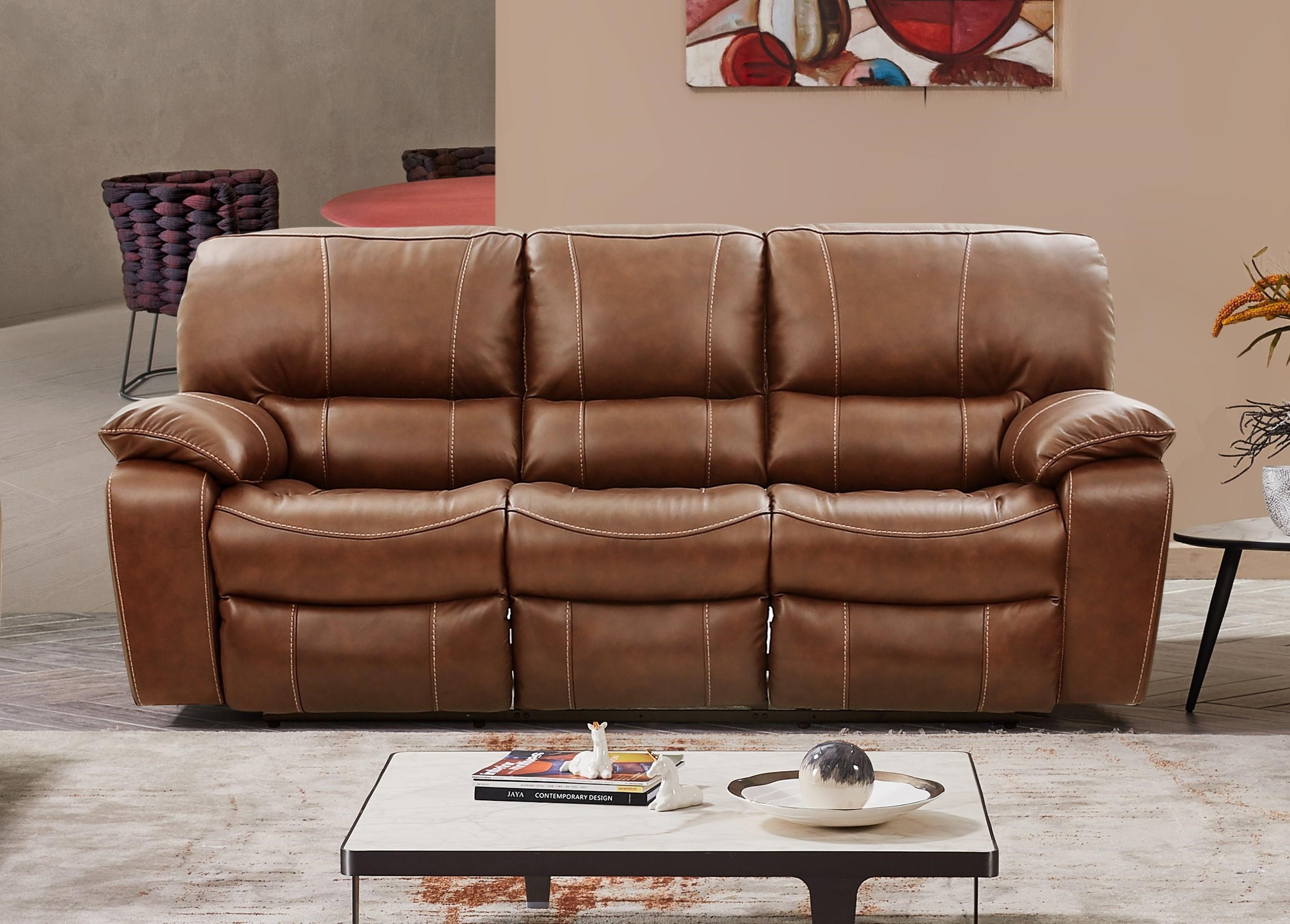 UX8625M DUAL POWER RECLINING LEATHER SOFA by Cheers at Furniture Fair - North Carolina