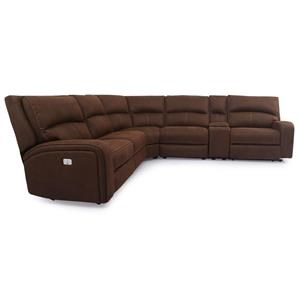 6 Piece Power Reclining Sectional Sofa