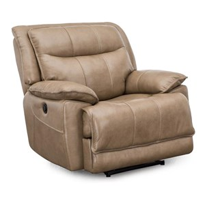 Glider Power Recliner with Pillow Arms